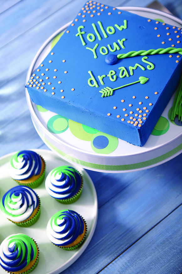 Make the cake your centerpiece. A sheet cake is easy to make and serve, holds up well and feeds a ...