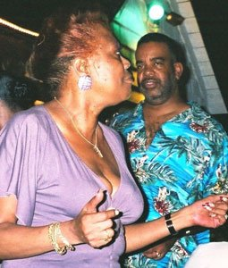Mildred Battle and Tom Saunders dancing to the beat at Maceo's Lounge