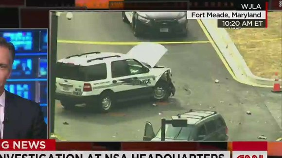 Police are on the scene following an incident at NSA headquarters in Fort Meade, Maryland. CNN's Jim Sciutto reports.