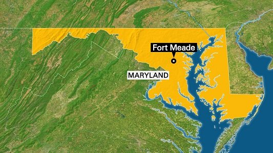 Two men tried to ram the main gate to enter the headquarters of the National Security Agency at Fort Meade, ...