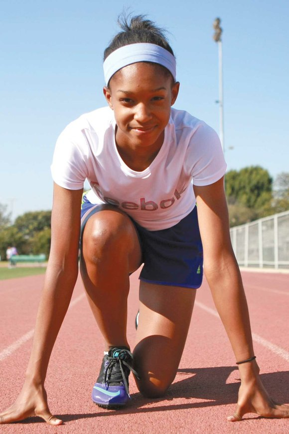 """A path of academic and athletic success has been paved for Gabrielle """"Gabby"""" Traylor, and she has used it to ..."""