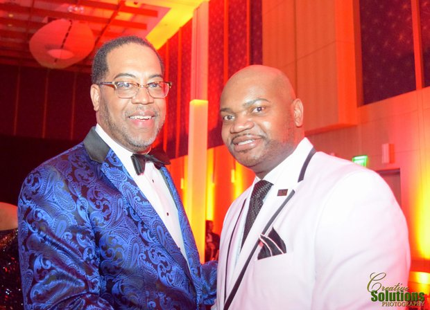 Regional One CEO Dr. Reginald Coopwood with TSD President and Publisher Bernal E. Smith II.