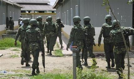 NAIROBI, Kenya (AP) -- Kenyan warplanes bombed militant camps in Somalia, officials said Monday, following a vow by President Uhuru ...