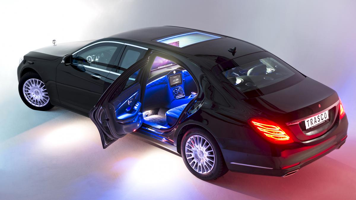 bulletproof trasco s-class limo beats mercedes-benz pullman to