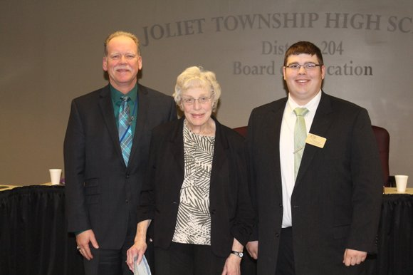 Janice Uffelmann was honored for her work at a recent school board meeting, where it as announced that the band ...