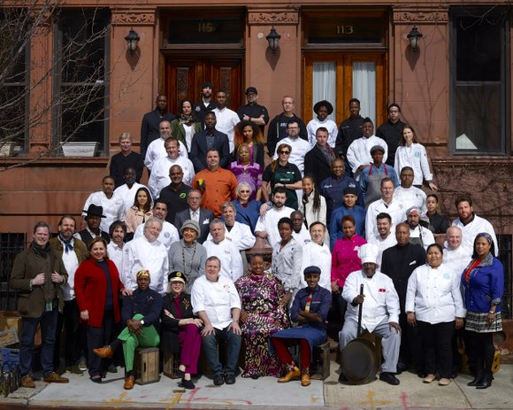 """Styled to pay homage to the iconic 1958 photo """"A Great Day in Harlem,"""" Harlem EatUp! Festival's founding sponsor Citi ..."""