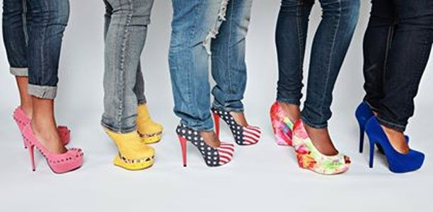 Erica Mitchell and Domeakia Snyder are founders of Goddess Couture Boutique (GCB). Mitchell, who is a native Baltimorean, recently moved to Fla. She is also a shoe styling expert. Mitchell says that this year's spring shoe trends will be colorful and have lots of designs.