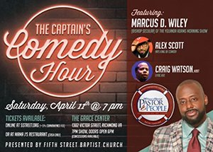 Fifth Street Baptist Church on North Side is presenting a comedy show this weekend as part of its 20th anniversary ...