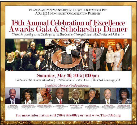18th Annual Celebration of Excellence Awards Gala & Scholarship Dinner