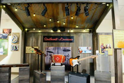 Louisiana Music Exhibit in The new Creole Nature Trail Adventure Point