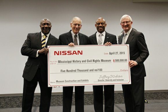 Nissan has donated $500,000 to the Mississippi Department of Archives and History to support ongoing construction efforts and future exhibits ...