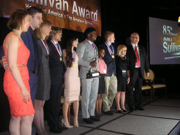 Amateur Athletic Union President and CEO Dr. Roger J. Goudy described this year's Sullivan Award finalists as perhaps the strongest ...