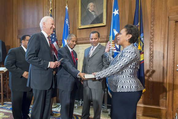 U.S. Attorney General Loretta Lynch had hardly finished being sworn in Monday as the first African-American woman to hold the ...