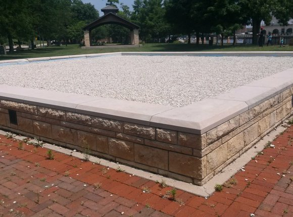 The city has earmarked $150,000 in this year's budget to either repair the now-gravel-filled display or come up with a ...
