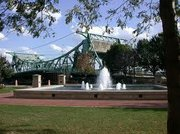 Frannie's Fountain, built in Billie Limacher Bicentennial Park in 2000, was dedicated to the wife of the late Mayor Art Schultz, who came up with the idea to build it.