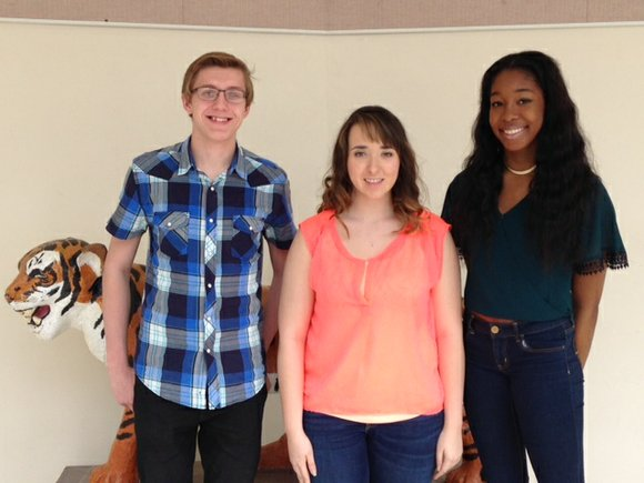 Three students were recognized at Joliet West High School and four at Joliet Central.