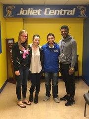 Joliet Central students of the month are Hana Cromer, K'lyr Mohr, Joel Alvarado and Jarais Musgrove.