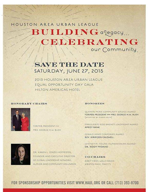 Houston Area Urban League l Building a Legacy l Celebrating Our Community l SAVE THE DATE - Saturday, June 27, ...
