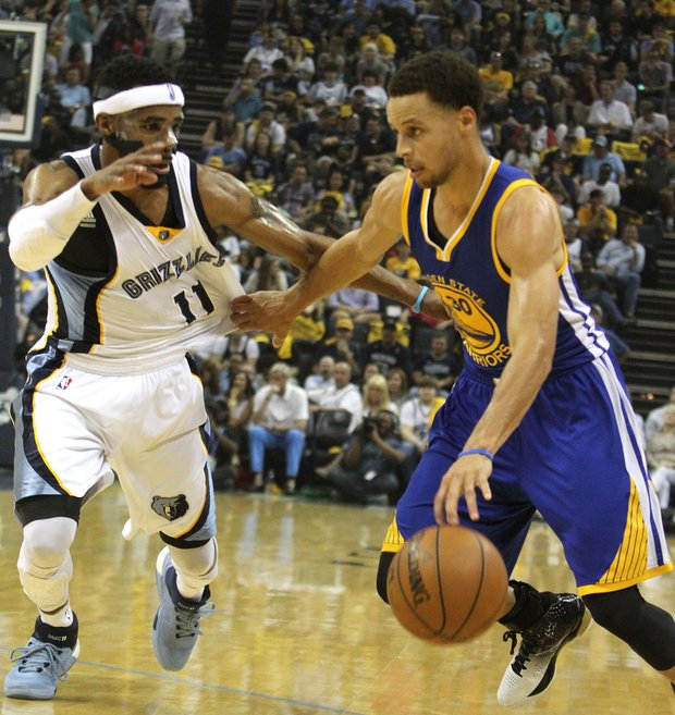 Mike Conley and the Grizzlies so far have kept Stephen Curry from having one of those unstoppable shooting performances that marked his MVP season.