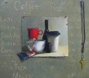 Julie Ann Smith's 'Coffee Menu' oil painting.