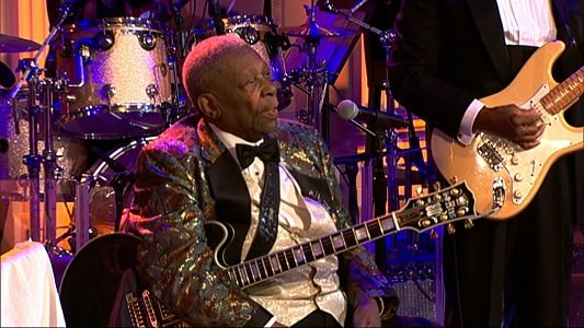 Riley B. King, the legendary guitarist known as B.B. King, whose velvety voice and economical, expressive style brought blues from ...