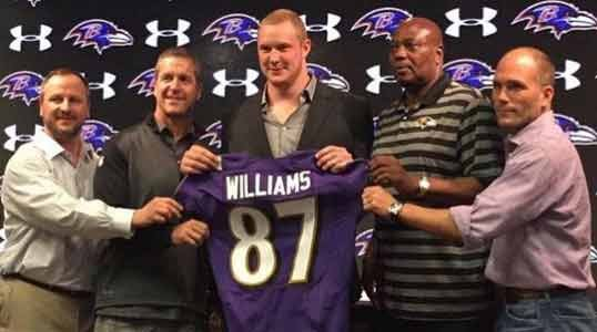 The Baltimore Ravens used their second round pick to select Maxx Williams, a tight end from Minnesota.