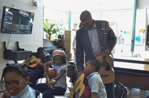Former New York Yankee turned Latin GRAMMY-nominated guitarist Bernie Williams, award-winning opera singer Carla Dirlikov, NAMM President and CEO Joe ...