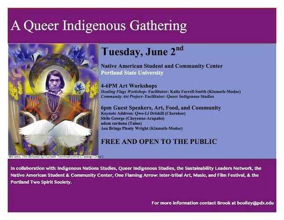 The Native American Student and Community Center of Portland State University welcome the community to a free gathering and workshop ...