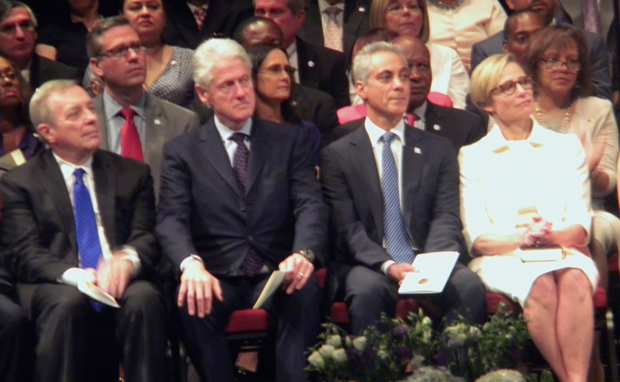 Top Row L-R Ill. State Treasurer Michael W. Frerichs; Ill. Attorney General Lisa Madigan; Ill. State Secretary Jesse White; U.S. Congressman Robin Kelly (IL - 2nd).
