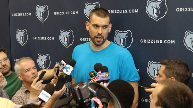 Marc Gasol is an unrestricted free agent and All-Star starter and Grizz Nation is eager to learn whether he will resign with the team. (Photo: Warren Roseborough)