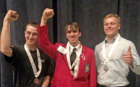 First-place winner Tom Hahn heads to the national SkillsUSA contest in June as Illinois' representative.