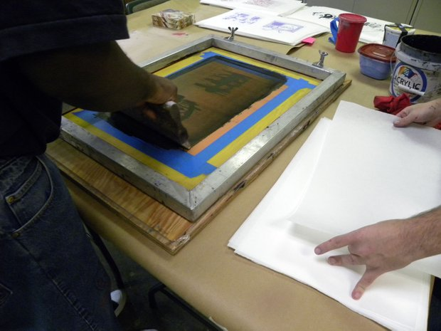 An art project gives inmates who are about to transition into the community a way of looking at the world from inside and outside custody.