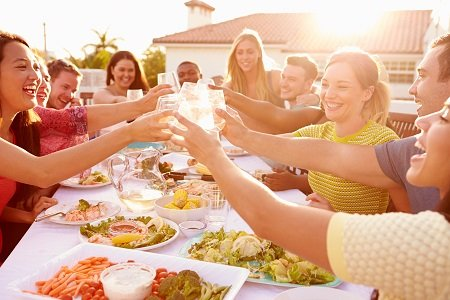 Warm weather begs for an outdoor dinner party with good friends, delicious food, and plenty of wine. It's all in ...