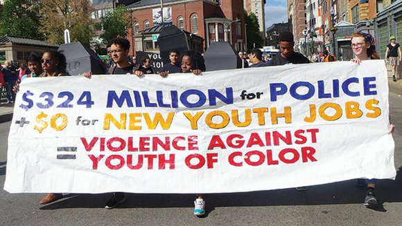 Youth organizers staged a 'funeral' procession for youth jobs in downtown Boston last week to criticize the lack of significant ...