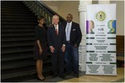 AANSBC organizers, Jaqueline Terrell and Robert Garner, with State Representative Gary Elkins.