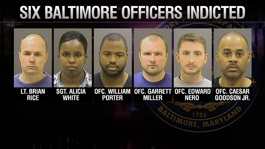 Six Baltimore police officers charged in the death of Freddie Gray want their trials moved out of the city.