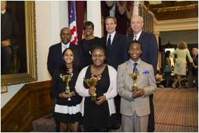 "The 2015 winners of the African American National Spelling Bee Championships, Inc. (""AANSBC"") were honored at the State Capitol on ..."