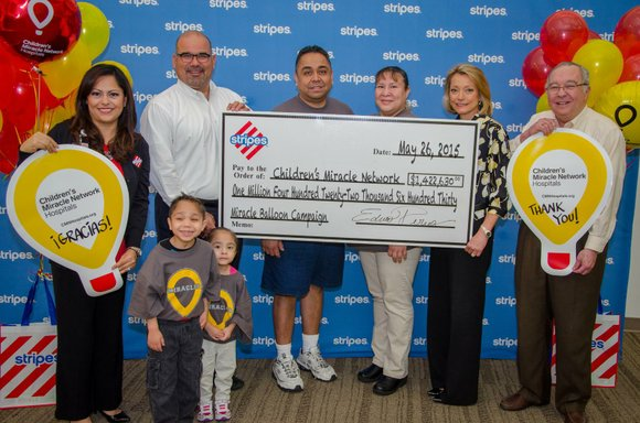 Funds raised by Stripes® will benefit 13 children's hospials in Texas, New Mexico, and Oklahoma.