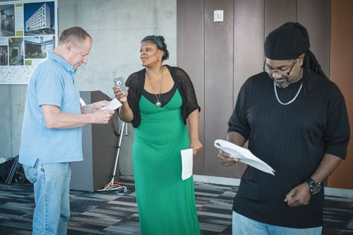 """Participants in Living Stages ' Theatre for Real Life' artist residency at Bud Clark Commons will present """"Hurry Up and ..."""