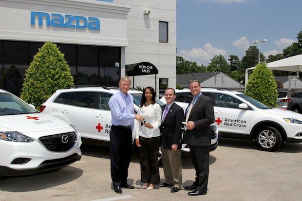 Mazda Donates 18 Vehicle Fleet To American Red Cross Houston Style
