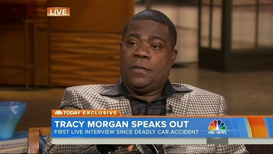 Tracy Morgan thanked Walmart, the company's whose truck hit his car a year ago seriously injuring him and killing a ...