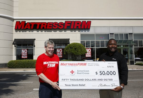 Mattress Firm Flood Relief Programs Gives Houston Storm Victims A