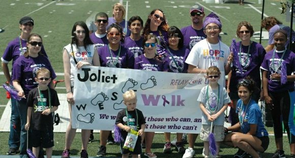 Students from both Central and West participated in the fundraising event last weekend held at Joliet Memorial Stadium.