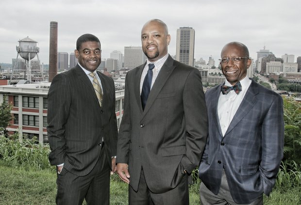 From left, Robert L. Dortch Jr., Reginald E. Gordon and Damon S. Jiggetts are the founders of the Ujima Legacy Fund. Their goal: To boost the impact of successful African-American men on Richmond philanthropy. Their current focus benefits nonprofits that seek to increase success options for inner-city children.