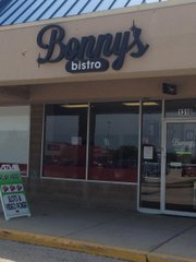 Bonny's Bistro, located in the same Larkin Avenue strip mall as Hobby Lobby and Burlington Coat Factory, could be mistaken for a restaurant were it not for a neon sign in the window and a sandwich board sign advertising slot machines and video poker set up outside.