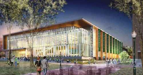 Portland State University has finalized a contract to build the Viking Pavilion and Education Center at the south end of ...