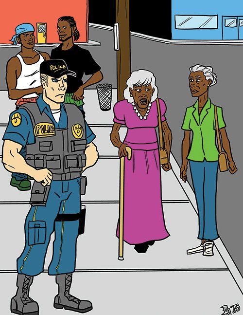 """""""I'd feel a lot safer if the police were less hostile and more polite like they are in England."""""""