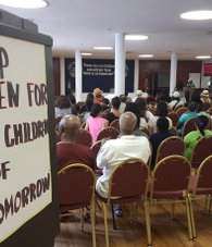 Supporters attended the Our Children's Foundation (OCF) rally at the foundation's, 125th street Harlem location.