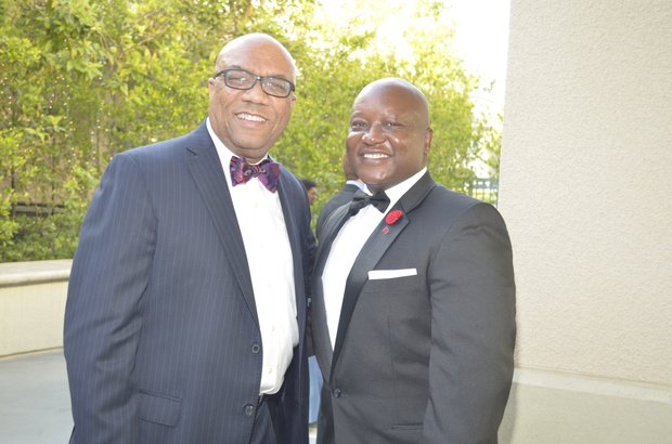 Frank Robinson ( Union Bank) and Honoree Commissioner Eric Isaac