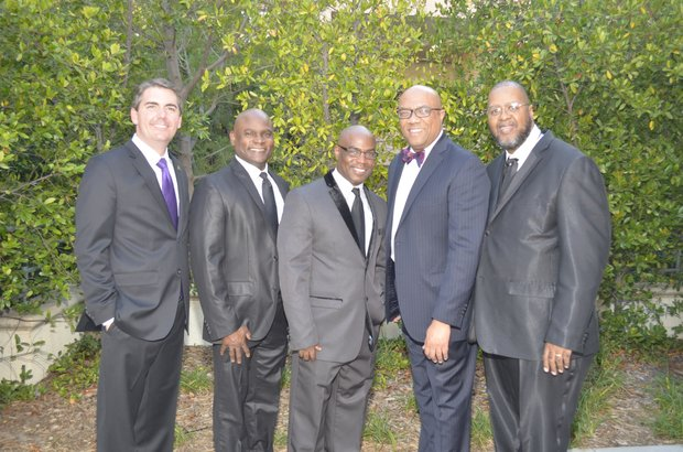 Assemblyman Mark Steinorth, Byron Reed (Wells Fargo), Terrance Stone, Frank Robinson And Tommy Morrow